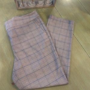 Loft factory gray plaid dress pants